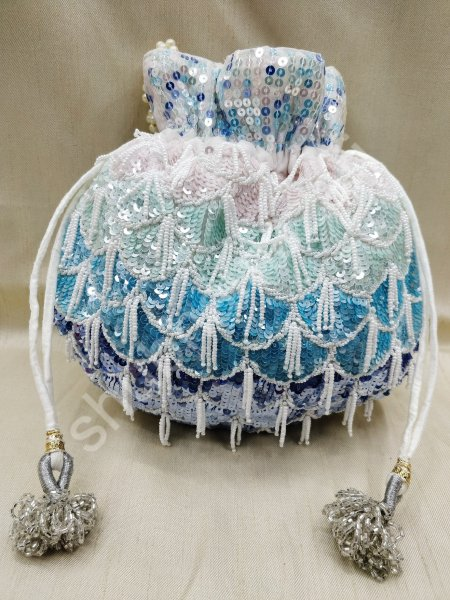 Decorative beautiful sequin bead evening bag purse for women | designer inspired 20 evening handbag for woman