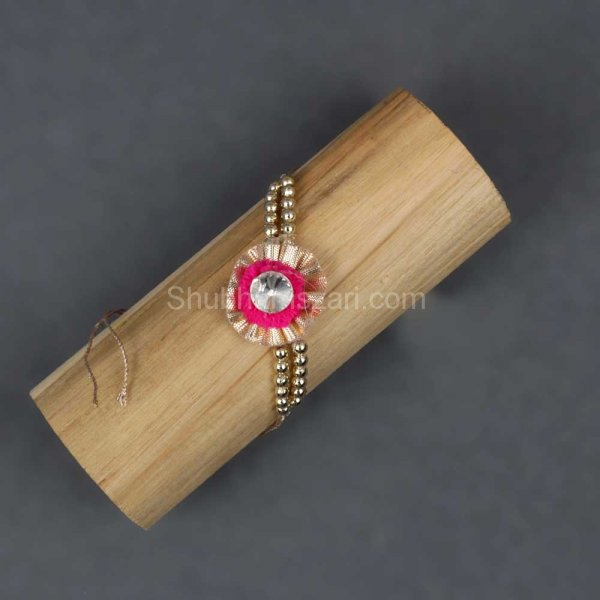 Floral & Pearl Beaded Rakhi