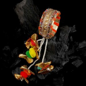 Gotta Pati Lumba Rakhi With Bangle