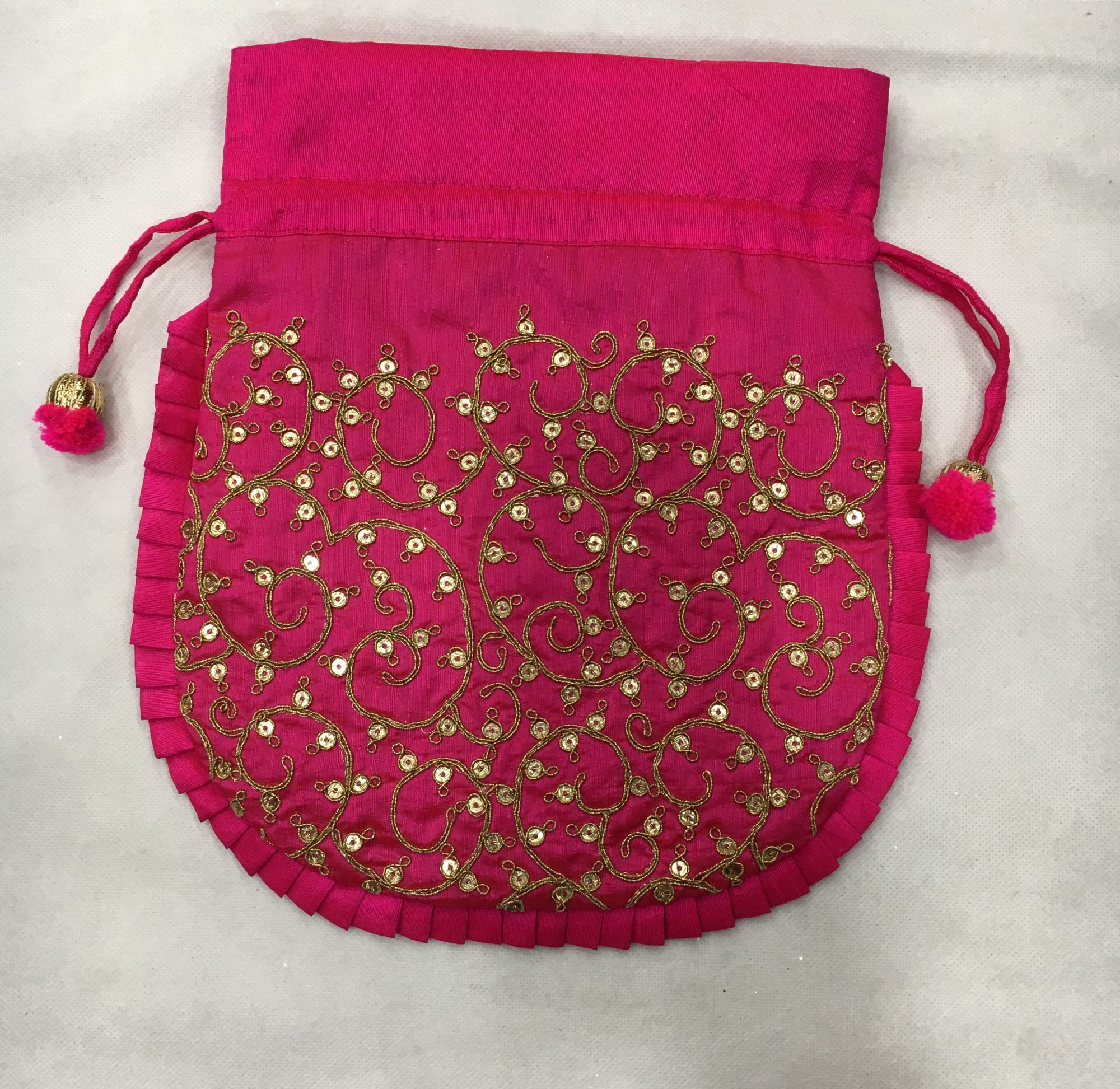 MACHINE WORK POTLI BAG FOR GIVE AWAY GIFTS