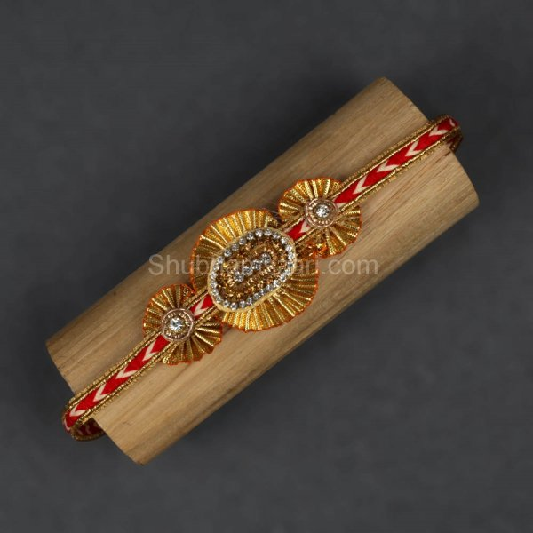 Golden Flower Rakhi