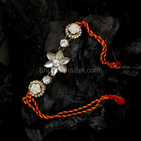 Star Fish Crystal Studded Rakhi