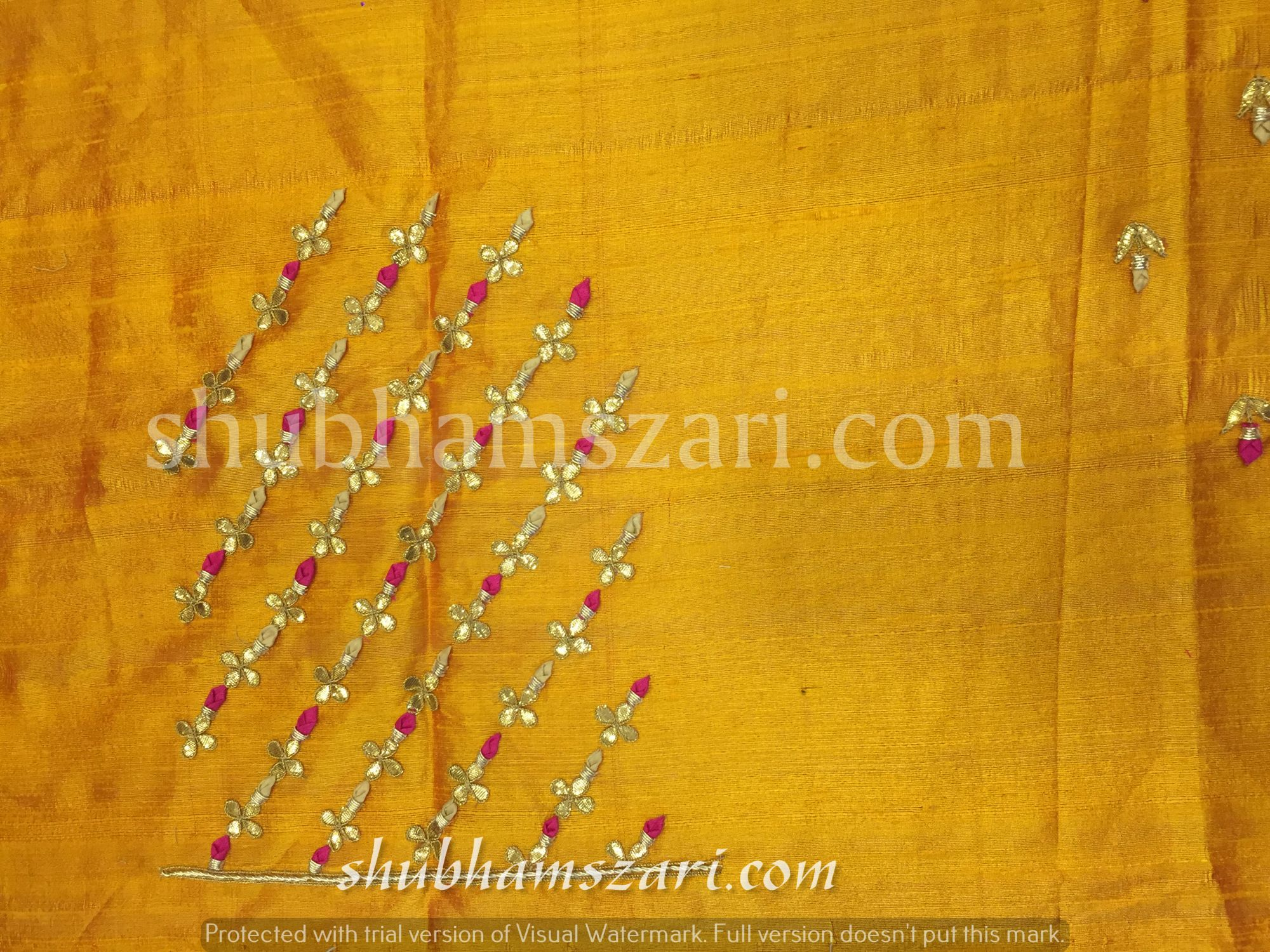 Gota patti blouse with simple budwork in YELLOW colour
