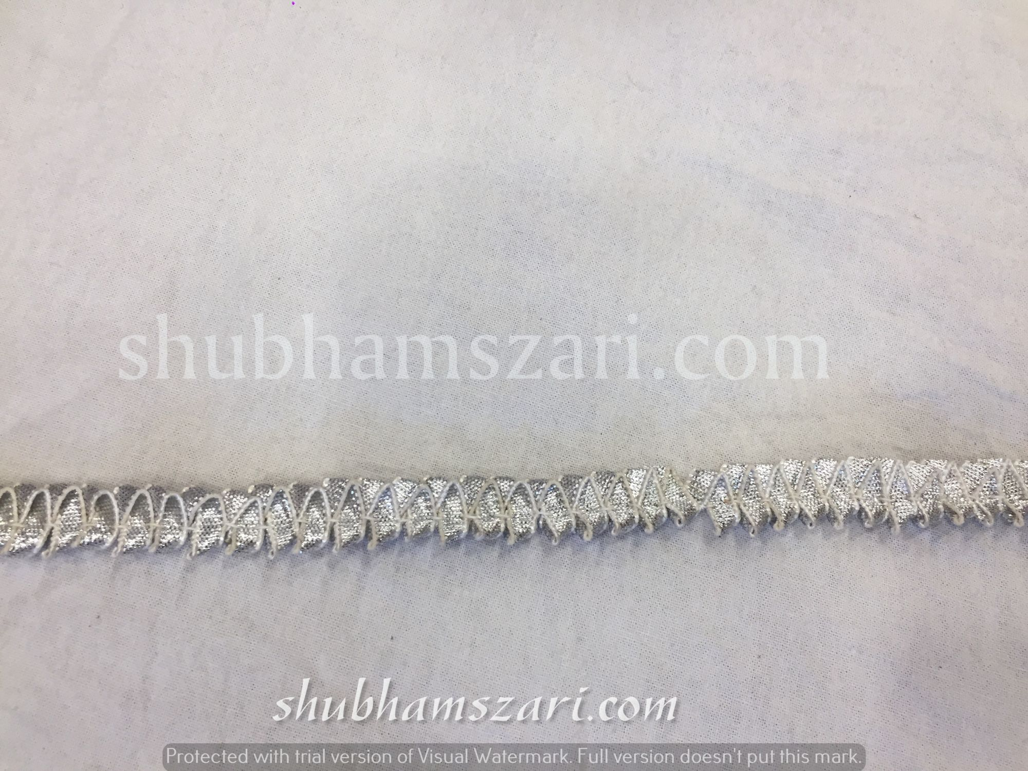 bijiya half inch frill in Silver colour lace