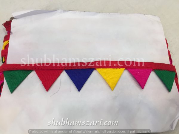MULTI  color handmade embellish dupatta lace|| crafting ribbon tape || curtain fabric trim || edging for cushion covers