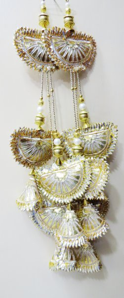 Golden Gota Patti WorkTraditional Indian Saree Lehnga Blouse Handmade Gota Patti Buty Tassels Purse Hanging Crafting Sewing