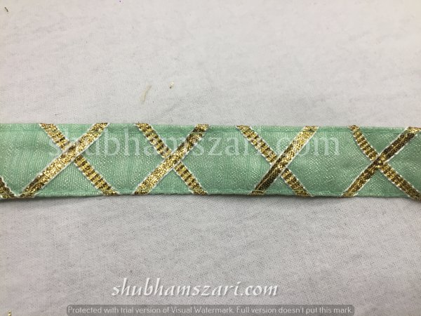 PISTA  color handmade embellish dupatta lace|| crafting ribbon tape || curtain fabric trim || edging for cushion covers