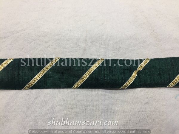 BOTTLE  GREEN color handmade embellish dupatta lace|| crafting ribbon tape || curtain fabric trim || edging for cushion covers