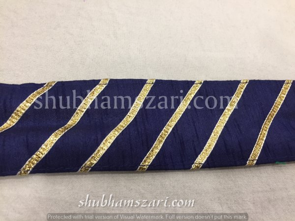 NAVY BLUE color handmade embellish dupatta lace|| crafting ribbon tape || curtain fabric trim || edging for cushion covers