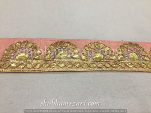 Gota work bandhej lace