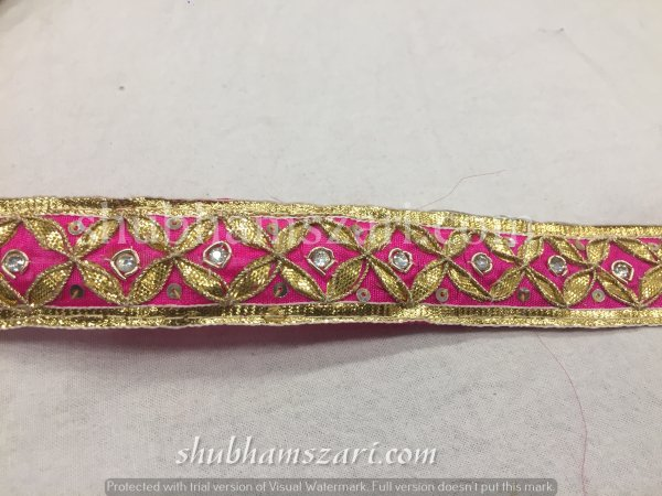 Rani Gota Patti Work Indian Saree Border Embellishment Lace Sewing Trim For Dresses Belt & Hat Making
