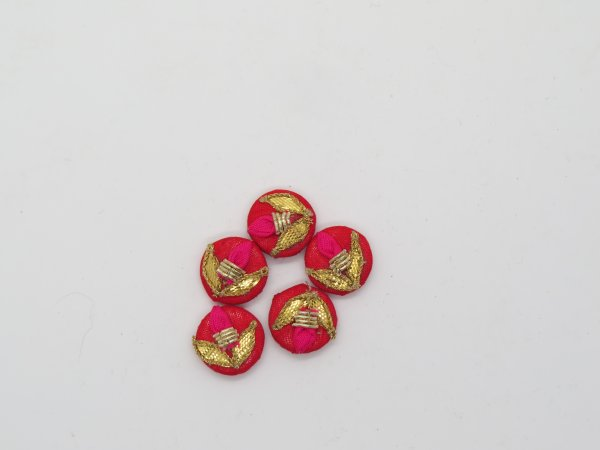 Hand Gota Bud Work Embellishment Button Indian Fancy Gota Patti Bridesmaids Design Decorative Hand Crafted Fabric Thread Work Sewing Buttons
