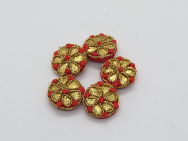 Thred Gota Work Embellishment Button Indian Fancy Gota Patti Bridesmaids Design Decorative Hand Crafted Fabric Thread Work Sewing Buttons