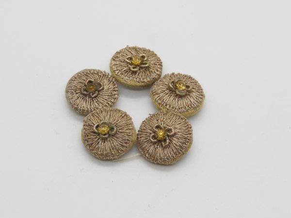 Hand Zardozi Aari Work Embellishment Button Indian Fancy Zardozi  Bridesmaids Design Decorative Hand Crafted Fabric Thread Work Sewing Buttons