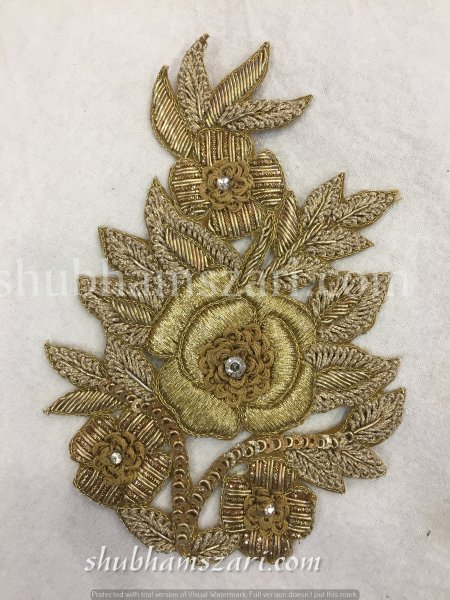 Zardozi Patches Embroidery Sew on Patch Decorative Patches Denim Patch Applique Embroidery Handcrafted Appliques Crafting Sewing