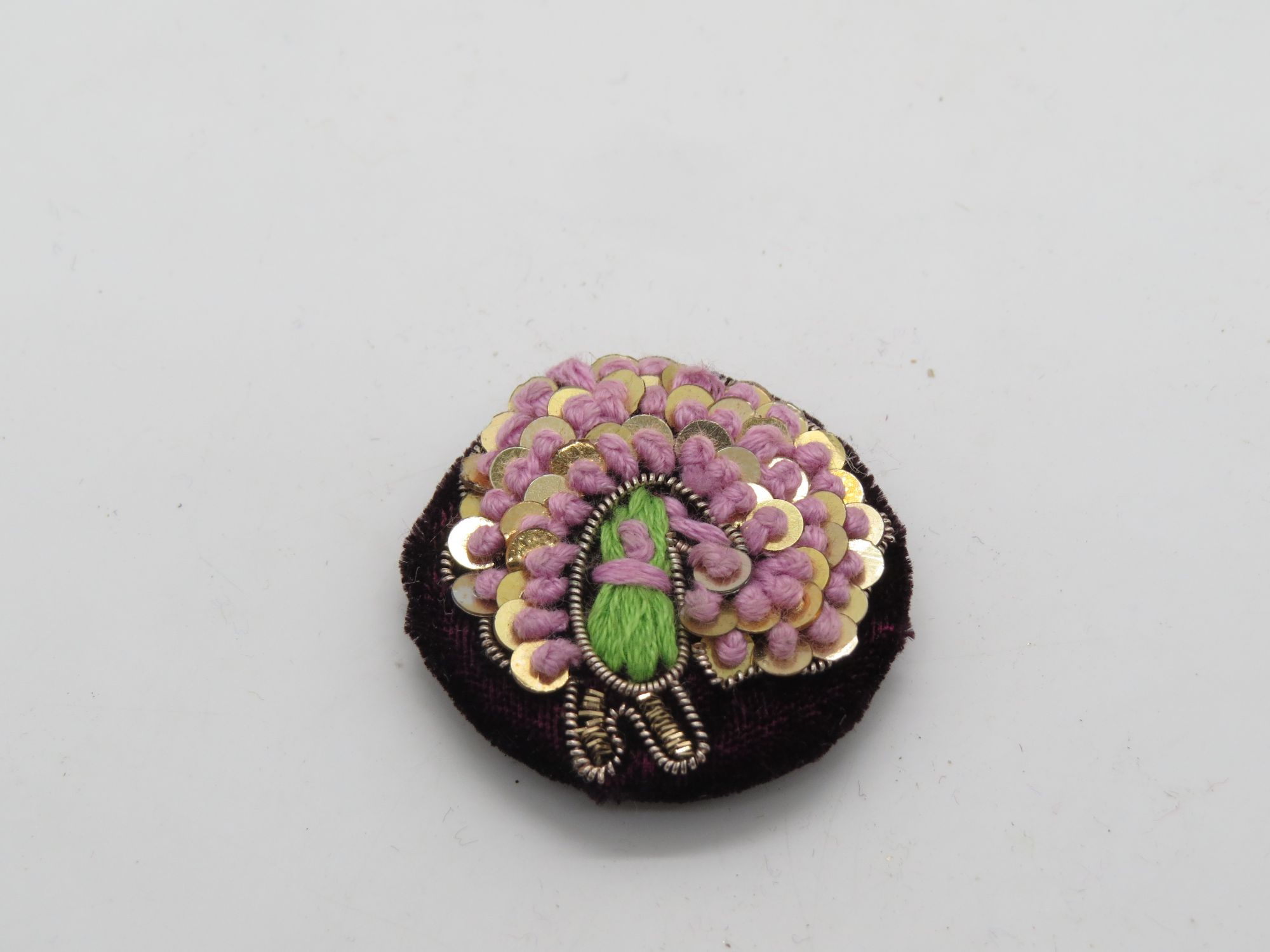 Hand Zardozi Thred Peacock Work Embellishment Button Indian Fancy Zari Zardozi Bridesmaids Design Decorative Hand Crafted Fabric Thread Work Sewing Buttons