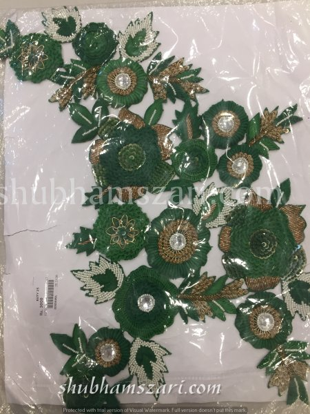 BUTY Big size Zardosi Handwork Patch
