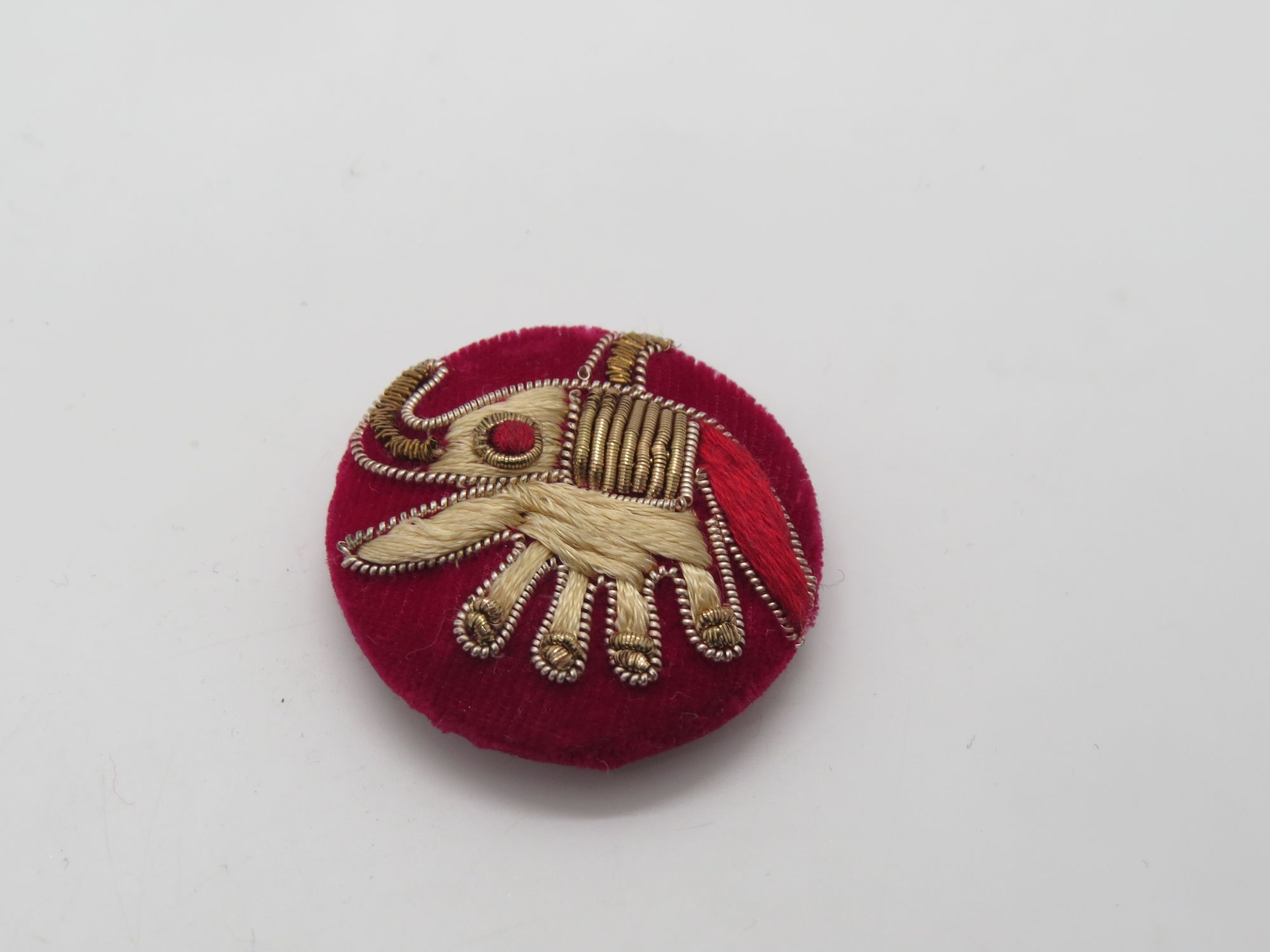Hand Zardozi Thred Elephant work Embellishment Button Indian Fancy Zari Zardozi Bridesmaids Design Decorative Hand Crafted Fabric Thread Work Sewing Buttons