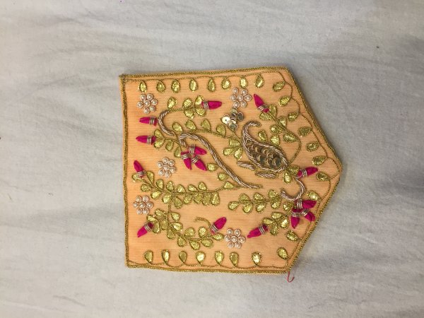 RED HAND CRAFTED GOTA PATTI WORK POCKET FOR SUITS SHIRT||FOR GIFTING||PATCH||CLOTH DECORATED||APPLIQUE