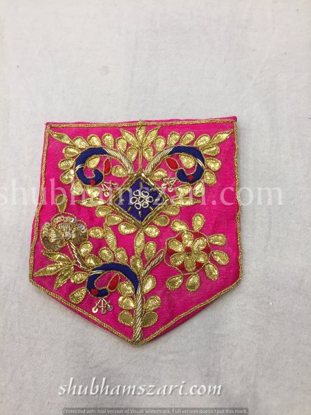 RANI HAND CRAFTED GOTA PATTI WORK POCKET FOR SUITS SHIRT||FOR GIFTING||PATCH||CLOTH DECORATED||APPLIQUE