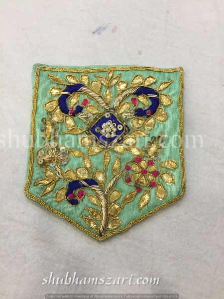PISTA HAND CRAFTED GOTA PATTI WORK POCKET FOR SUITS SHIRT||FOR GIFTING||PATCH||CLOTH DECORATED||APPLIQUE