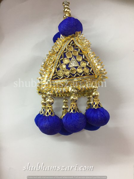 Shubhams blue colour Fancy Latkan For embellish saris Blouse lehengas and kurtie