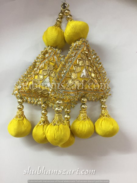 Shubhams yellow colour Fancy Latkan For embellish saris Blouse lehengas and kurtie