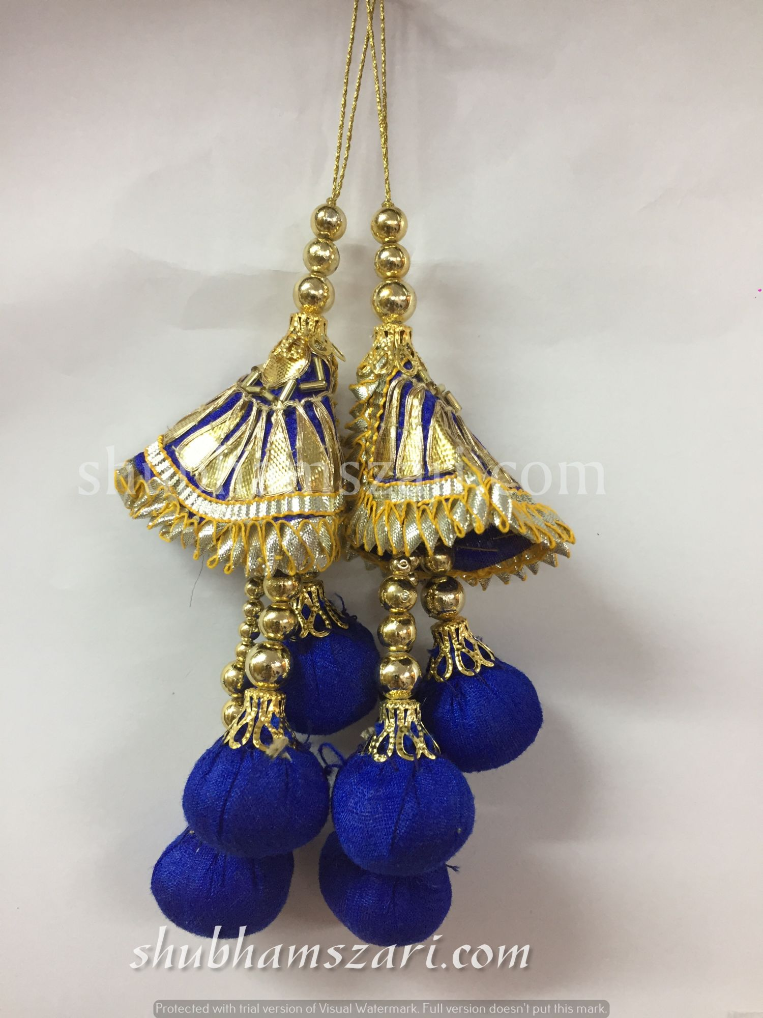 Shubhams blue colour Latkan For embellish saris Blouse lehengas and kurtie