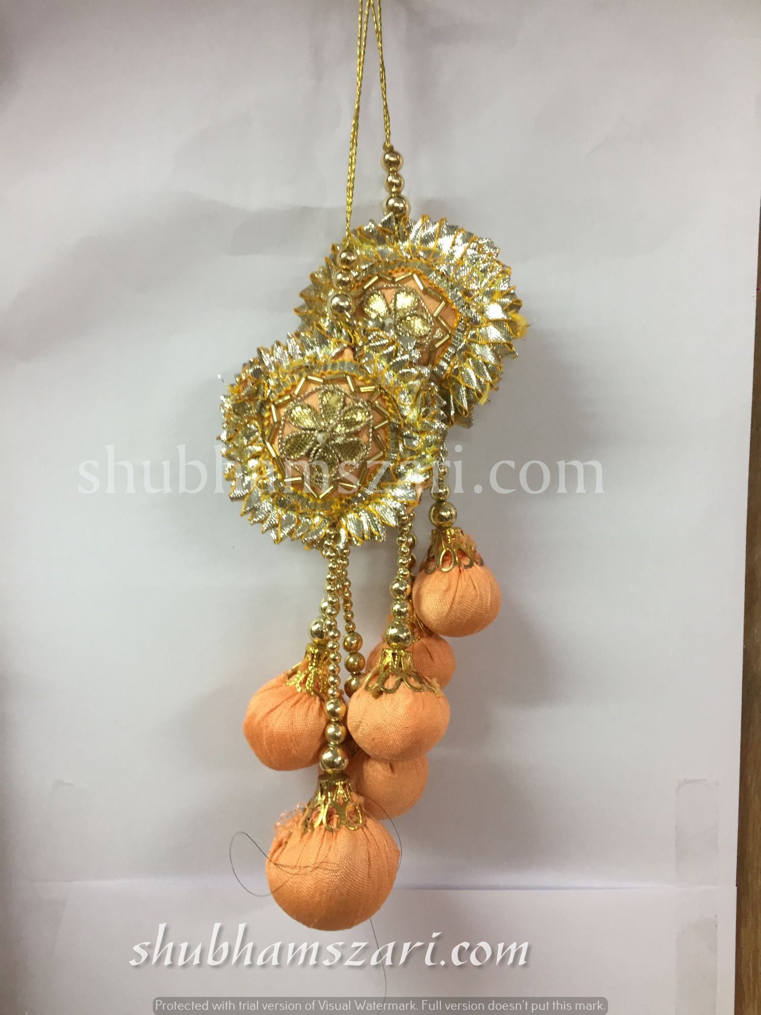 Shubhams peach colour round 6 patti buty Latkan For embellish saris Blouse lehengas and kurtie