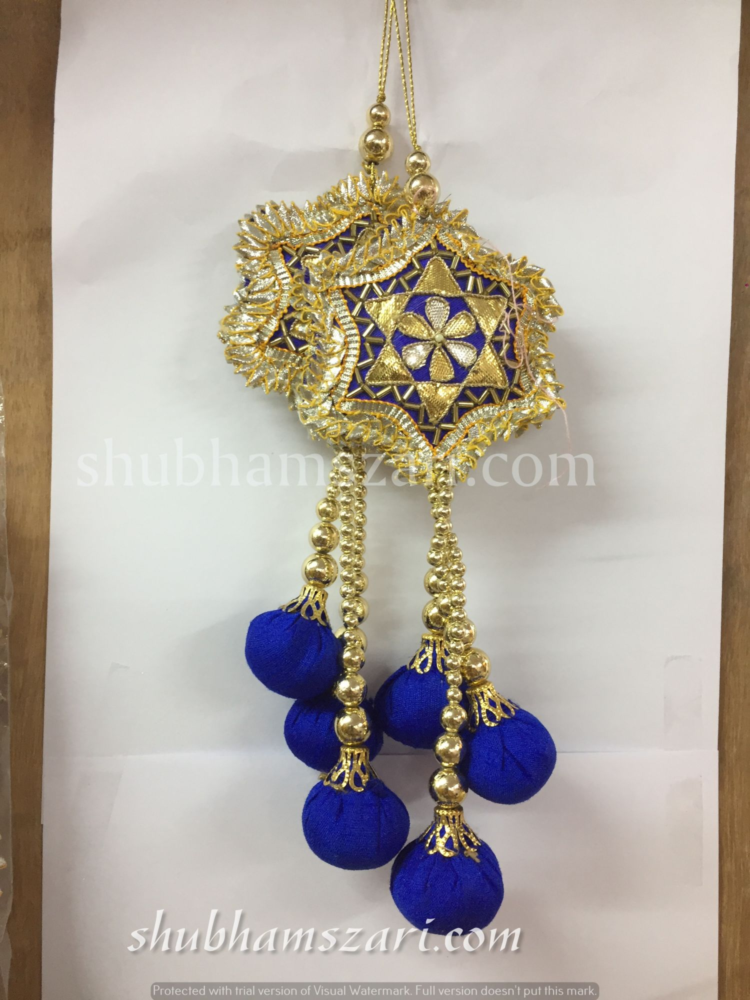 Shubhams blue colour star buty Latkan For embellish saris Blouse lehengas and kurtie