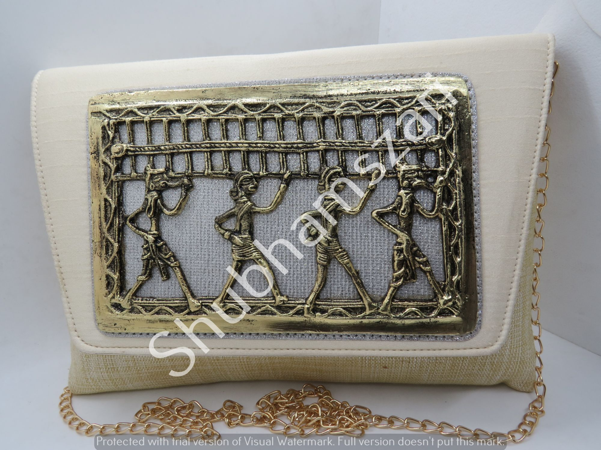 Metal  Art Deco party Casual Clutch, Bridal Clutch, Couture Bridal Purse, Bridal Shower Gift