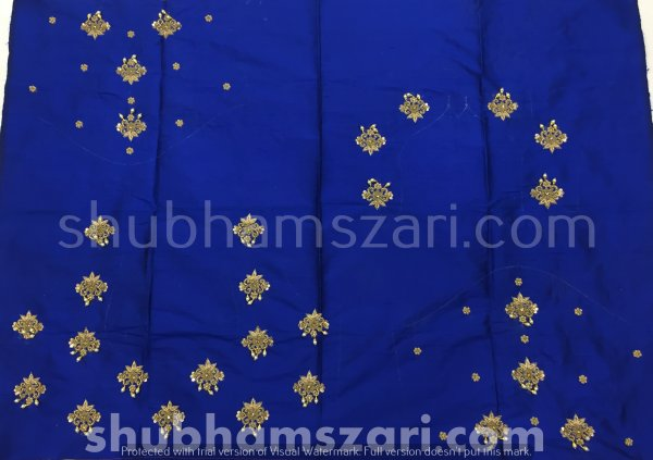 Blue Beautiful Hand zardozi Work /Tikki work Thread Jari And Hevy Handwork/ Sari Blouse /Saree Top/ For Women