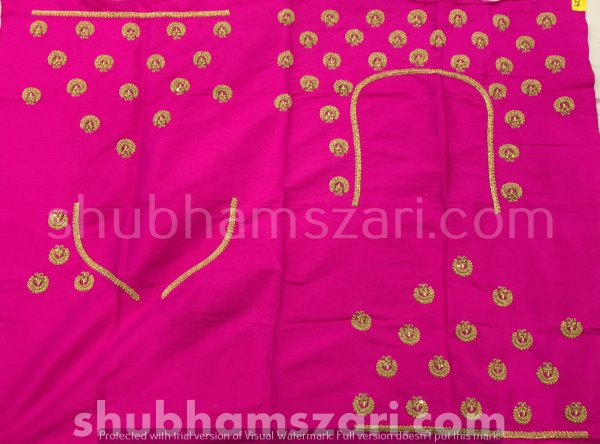 Rani Beautiful Hand zardozi Work /Tikki work Thread Jari And Hevy Handwork/ Sari Blouse /Saree Top/ For Women