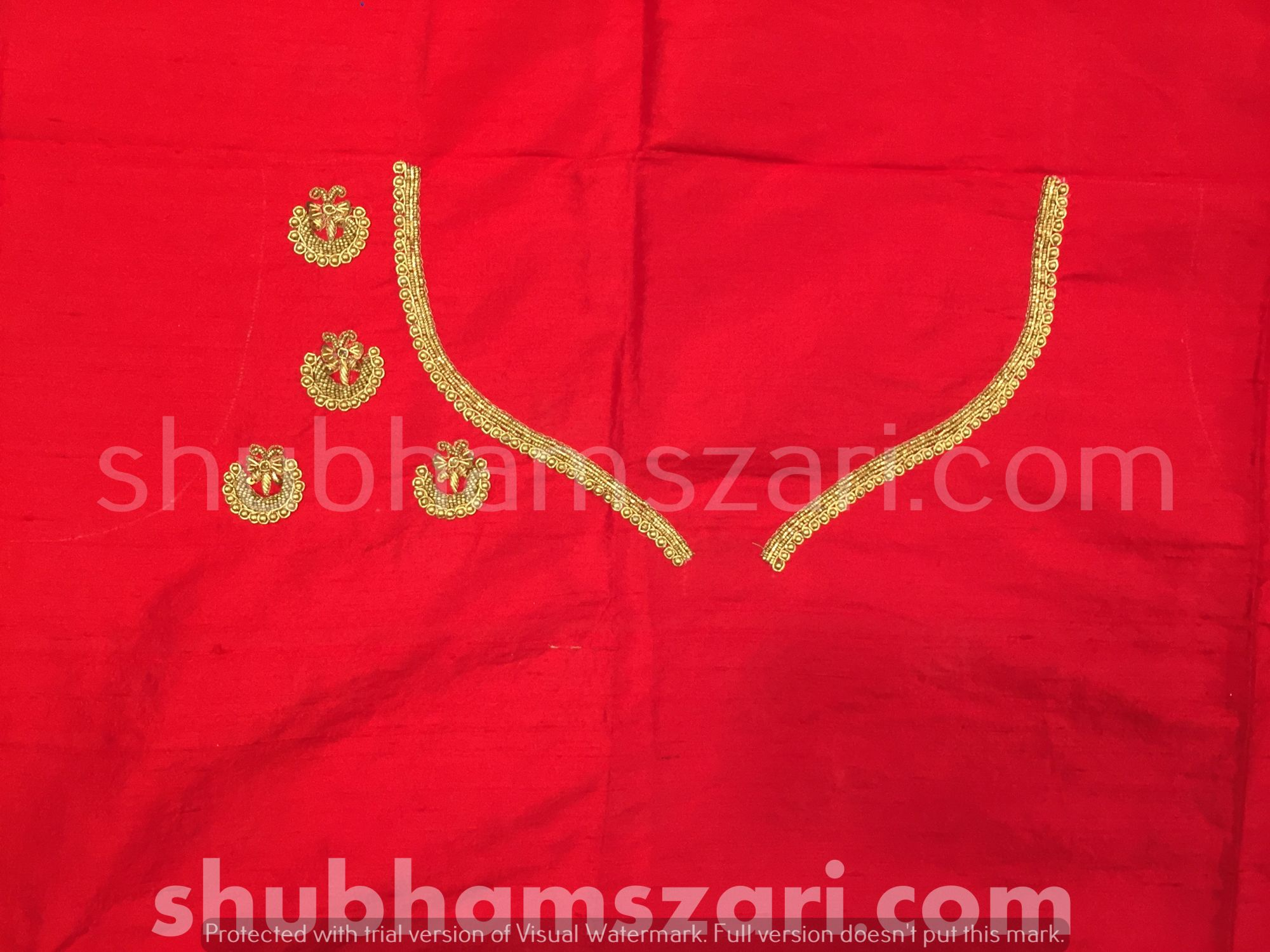 3. Red Beautiful Hand zardozi Work /Tikki work Thread Jari And Hevy Handwork/ Sari Blouse /Saree Top/ For Women