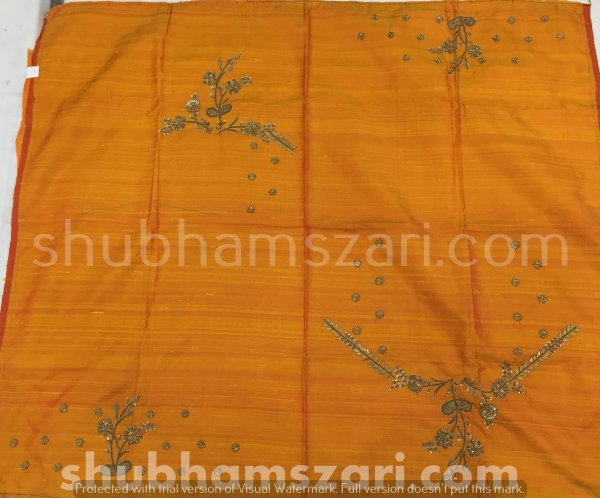 2.Mustard Beautiful Hand zardozi Work /Tikki work Thread Jari And Hevy Handwork/ Sari Blouse /Saree Top/ For Women