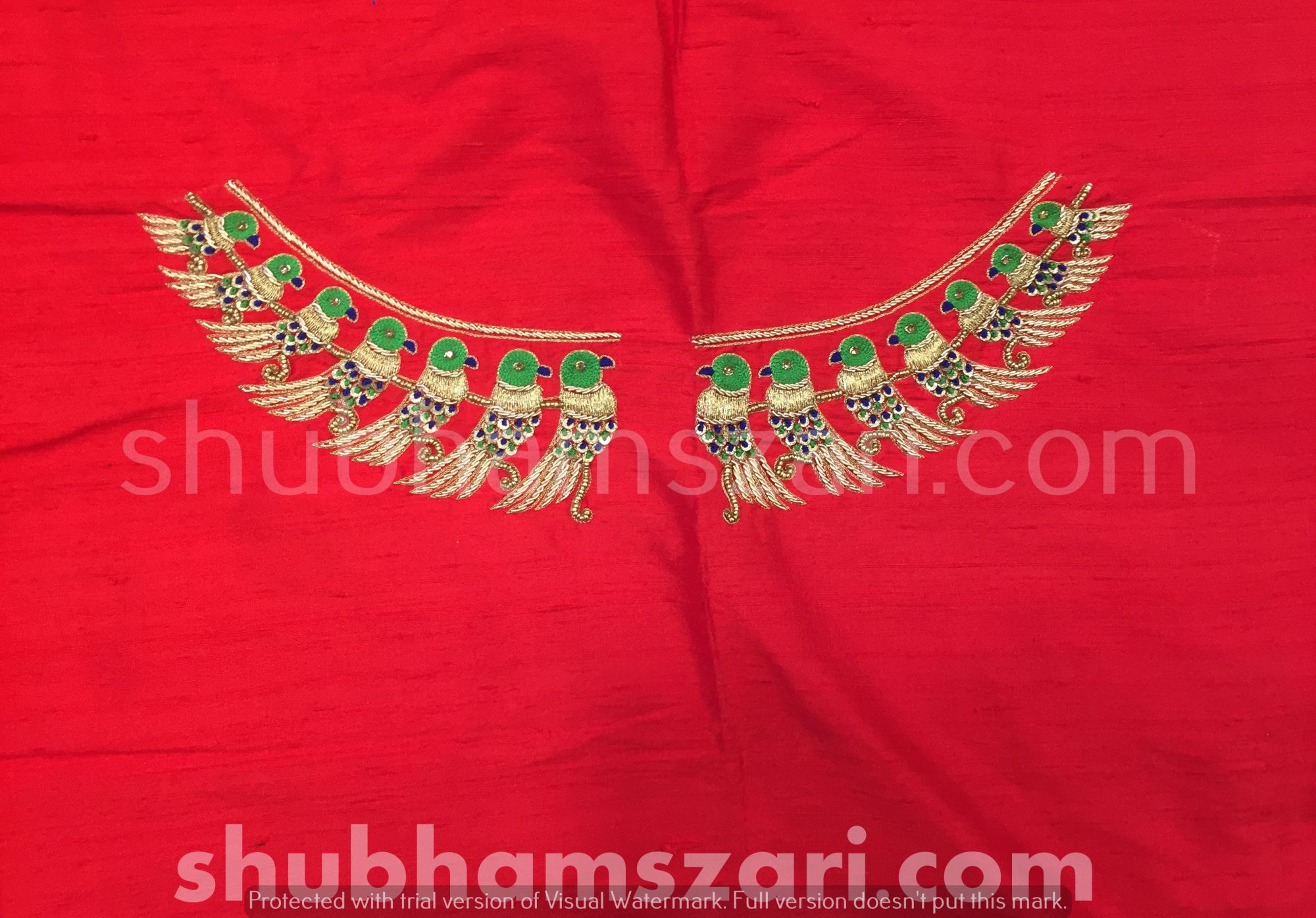 Red Beautiful Hand zardozi Work /Tikki work Thread Jari And Hevy Handwork/ Sari Blouse /Saree Top/ For Women