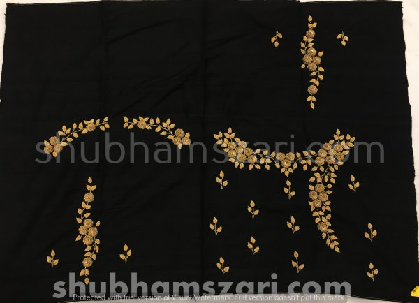 Black Beautiful Hand zardozi Work /Tikki work Thread Jari And Hevy Handwork/ Sari Blouse /Saree Top/ For Women