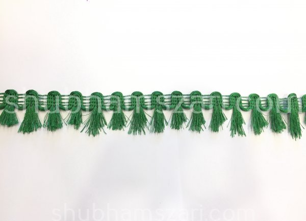 "Decorative Green Fabric Lace Sari Border Blouse Lace scarf Lace Indian Fabric witdth 1"" Length 9mtr"