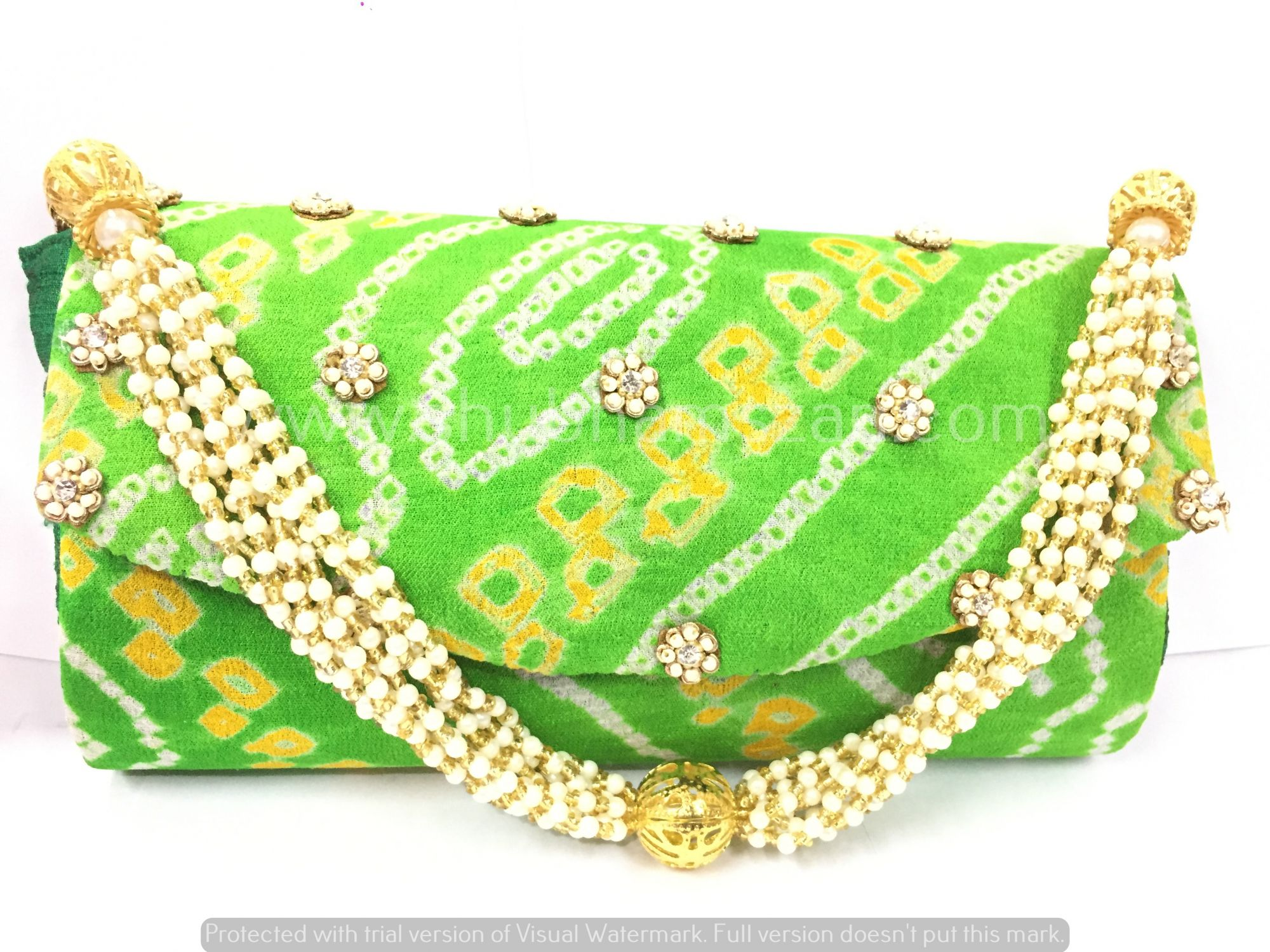Traditional Bandhej Clutch