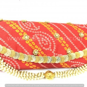 Semi Bandhej Clutch