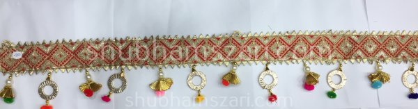 Handmade Traditional Pearl Moti Toran, Pooja Room Toran, Door Toran, Home Decorative Hangings, Pooja Mandir Toran, Home Decor
