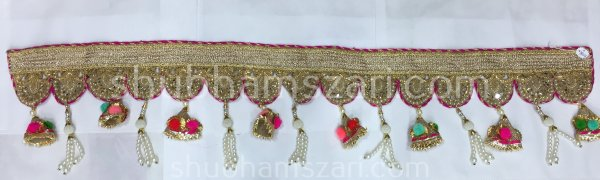 Door HangingHandmade Traditional Pearl Moti Toran, Pooja Room Toran, Door Toran, Home Decorative Hangings, Pooja Mandir Toran, Home Decor