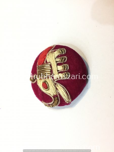 Decorative Indian Button Embellishment Fancy Embroidered Indian Design Hand Crafted Fabric Thread Work Handmade Artwork Wedding Buttons