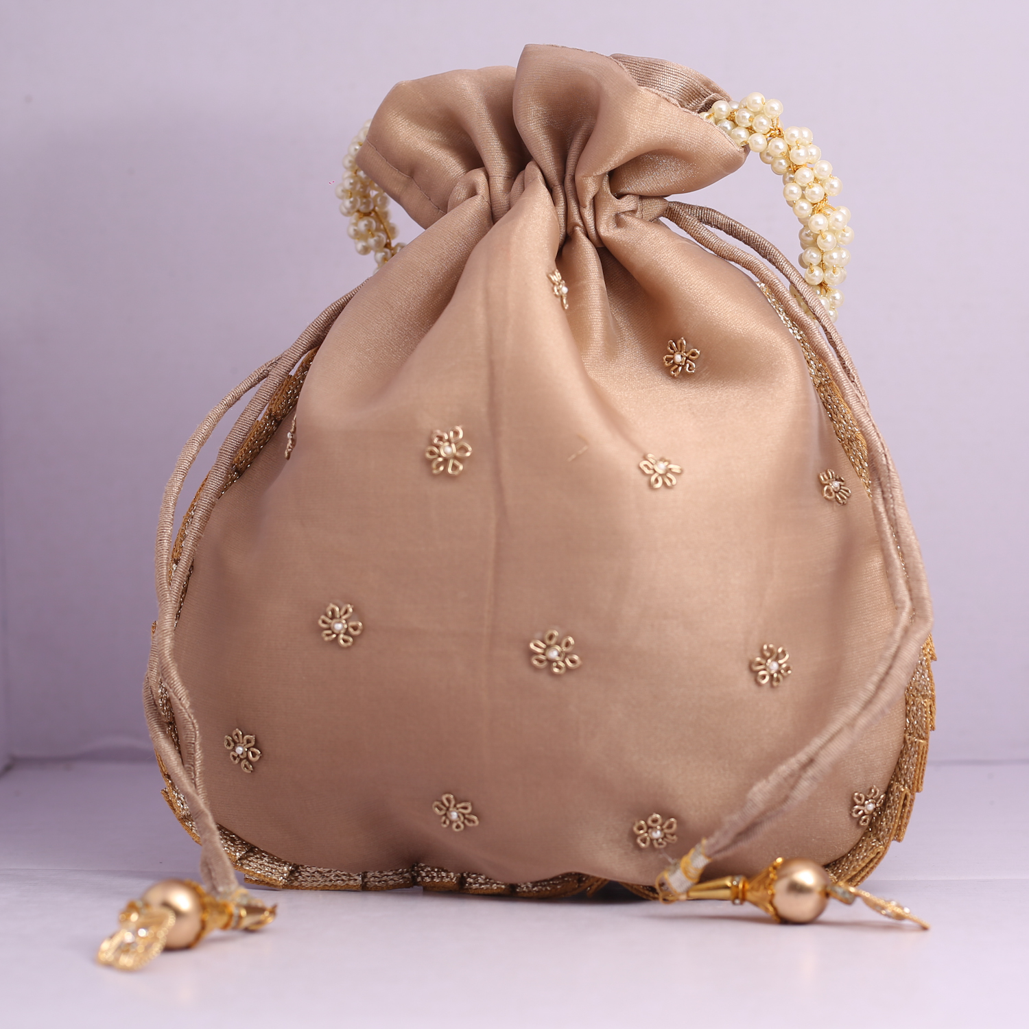 9.Wedding Hand Crafted Potli Bag With Beaded Chain For Women|| Evening Bags|| Embroidery Handbag